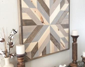 Reclaimed Wood Wall Art, Rustic Wall Decor, Rustic Barn Star, Farmhouse  Decor,