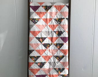 handmade | baby quilt | lap quilt |  modern quilt | geometric quilt | READY TO SHIP!!!