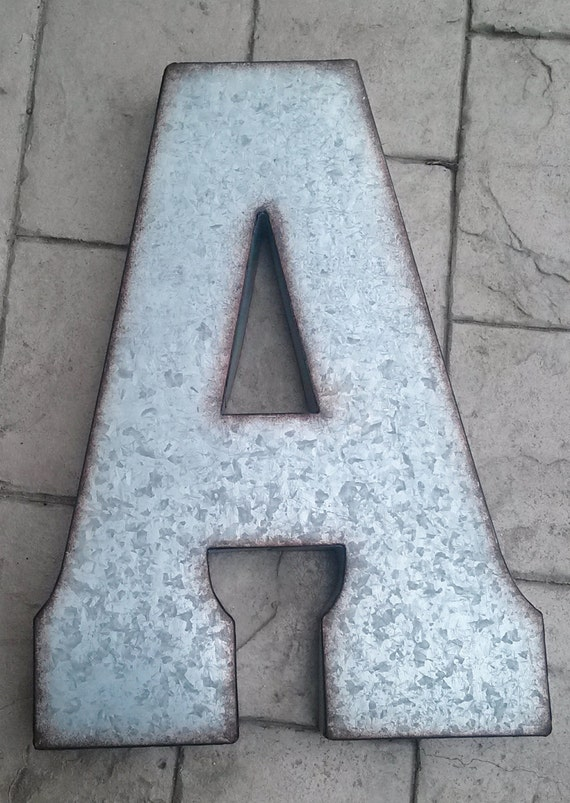 Sale X Large Metal Letter Zinc Steel Initial Home Room Decor