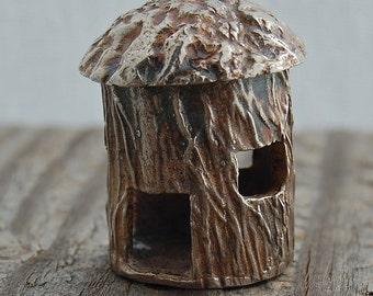 silver castle house, fairy house, bird house, desk sculpture, miniature, made in america, desk ornament, fine silver, birthday gift