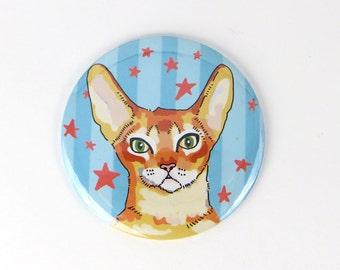 Cat magnet, refrigerator magnet of cat, orange cat refrigerator magnet, patriotic cat, gift for cat lover