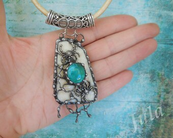 Spiders, Spider pendant, Web, Tiffany jewelry