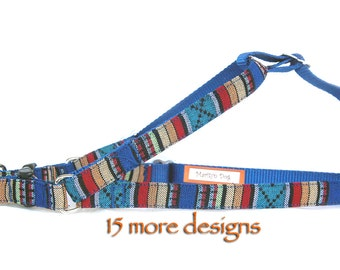 Dog harness Ethnic Aztec Navajo Southwestern Tribal Ikat step in dog harness Cool blue boy dog harness Cute pink red girl dog harness  Pet