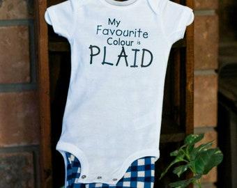 Infant jammies - My favourite colour is plaid