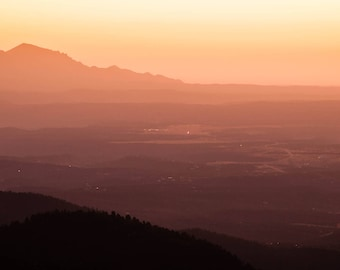 New Mexico Sunrise Photography - Ruidoso New Mexico - Landscape Photography - Landscape Wall Art - Panoramic Print - Metal Print