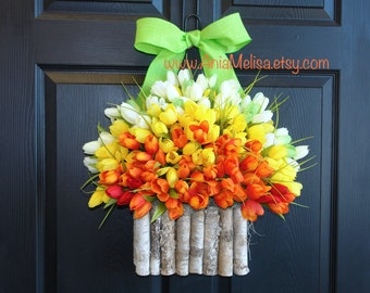 spring wreath Easter wreaths for front door wreaths Mother's Day gift welcome summer wreaths, home decor