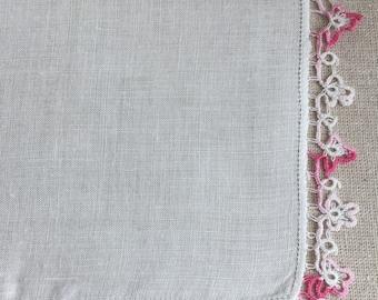Vintage Tatted Lace Hanky~Hankie~ Handkerchief