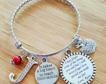 Teacher Appreciation Gift Teacher Gifts Teacher Bracelet Daycare Provider Gift Daycare Gift Babysitter Gift Gift for Babysitter Nanny Gift