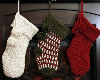 Crochet PATTERN Brighton Christmas Stocking Crochet Christmas Stocking Pattern With VIDEO SUPPORT!