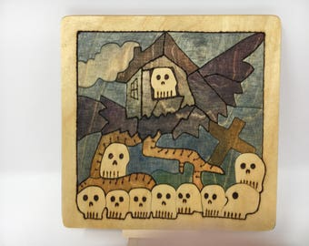 Baba Yaga's House Tablet/Jigsaw Puzzle