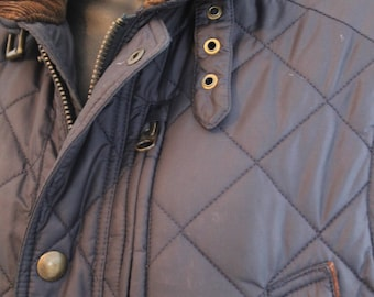 sleeveless jacket, quilted jacket, Ralph Lauren, woman, size small,  blue navy