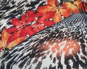 Jersey fabric, fall print