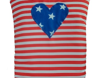 Stars and Stripe with Heart  Tea Cosy Tea Pot Warmer