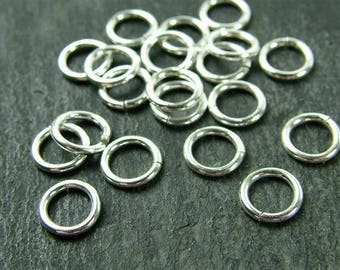 10 pcs Sterling Silver Open Jump Ring 6mm ~ 22ga