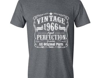 51st Birthday, 1966 Shirt, 1966 Legend. Crew Neck T-Shirt, 51st Birthday Gift, 51st Birthday Idea 51 Birthday Present, 51 Birthday GRAY 1966
