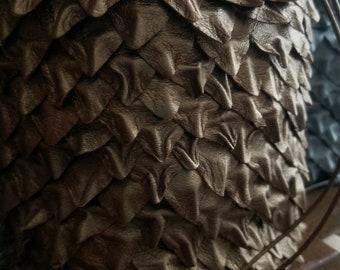 Sac en cuir Dragon écailles dés, jolie pochette, sac médiéval Rune, sac en cristal de monnaie, Donjons & Dragons jeux, Fantasy, jeu de rôle, jeu de rôle