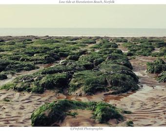 Photo print 'Low tide at Hunstanton Beach, Norfolk'