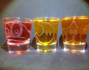 Mario Odyssey shot glasses set of 3