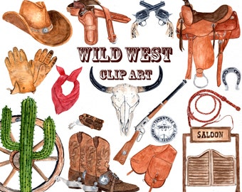 Western clipart etsy watercolor western clipart cowboy clipart skull clipart boho clipart cowboy hat cowboy boots voltagebd Choice Image