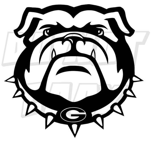Georgia Bulldog Football Decal