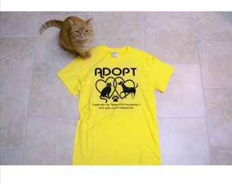 Animal rescue, Adopt t-shirts, Adopt don't shop, best friend gift, S - 4X, cat shirt, dog shirt, unisex adult clothing, gift for her, pets