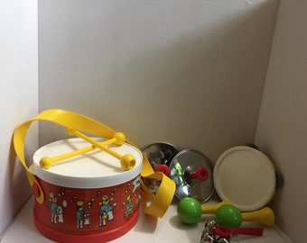 Vintage fisher price drum and music kit