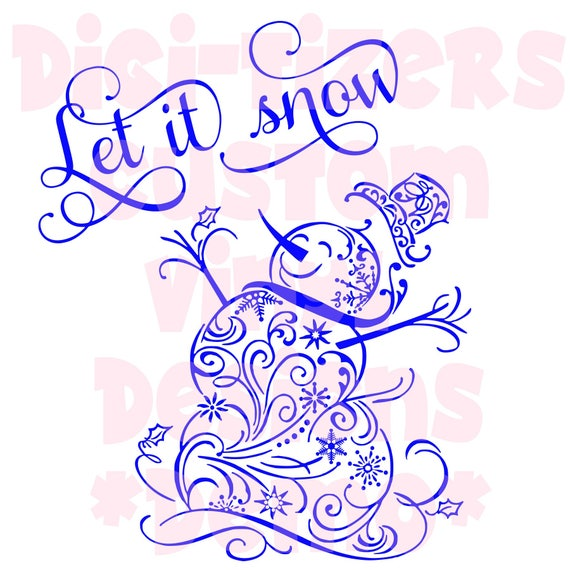 Digi tizers let it snow snowman svg studio v jpg
