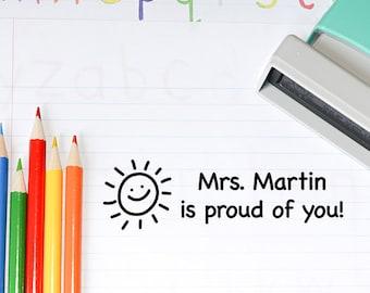 Teacher Stamp, Self inking teacher stamp, Proud of you teacher stamp, Teacher Gift, Back to School (T13)