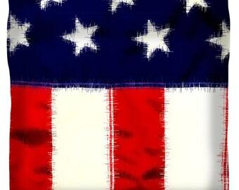 Unique Duvet Cover,Designer Duvet Cover,Rustic American Flag,Cream,Red,White,Blue,Stars,Stripes,King,Queen,Full,Bedroom Home Decor,Bedding