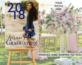 Class of 2018 Graduation Photo Welcome Sign - Grad Party Welcome Sign - Welcome Sign Congrats, Foam Board Sign, Welcome to the Party Sign,