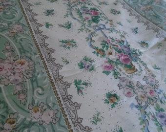 Vintage Dorma quilt cover and pillow sham,  rose design single