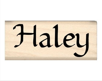 Haley - Name Rubber Stamp for Kids