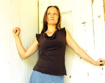Drape Neck Top (Soy or Bamboo Organic Cotton Jersey)