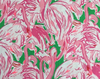 """prep pink colony dobby cotton fabric square 18""""x18"""" ~ lilly spring 2015 ~ lilly pulitzer"""