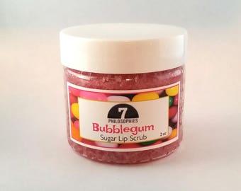 Bubble Gum Lip Scrub - 2 oz - Organic Sugar Scrub