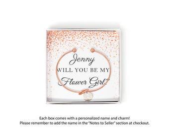 Will you be my Flower Girl Gift Ideas, Flower Girl Proposal, Asking Flower Girl, Be our Flower Girl, Personalized Flower Girl Bracelet,
