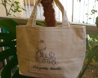 Tote bag fabric for children