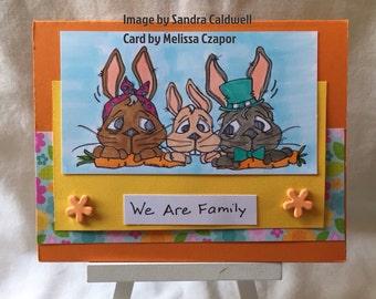 2094 Garden Wabbit Family Digi Stamp