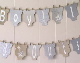 Baby Its Cold Outside Banner,  Snowflake Baby Shower Decor, Baby shower, winter baby shower decorations, Oh boy its cold outside banner