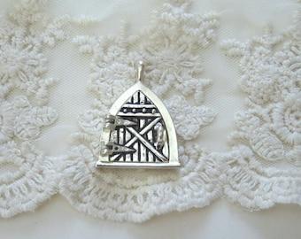 1- Opening Hobbit Door Charm Antiqued Silver Fairy Door Magnetic Closure Open and Close Locket & Open door charm   Etsy