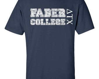 Faber College Funny Frat Party Navy Men's Tee Shirt 1623