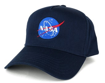 NASA Insignia Meatball Embroidered 5 Panel Cotton Cap - 2 Colors (31-538)