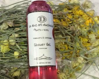 Rosemary + Lavender shower gel 4 oz
