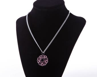 Pink and Black Celtic Star