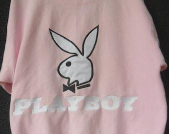 Vintage PLAYBOY//Big Logo Bunny Red Eyes//Velvet Embroidered//Size XL//Made In USA 9R0ikKi7