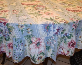 Vintage Shabby Boho Chic Tablecloth Cabbage Roses Dining Table Home Decor Shabby Creations