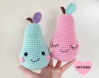 PEARS PDF Pattern, amigurumi, crochet