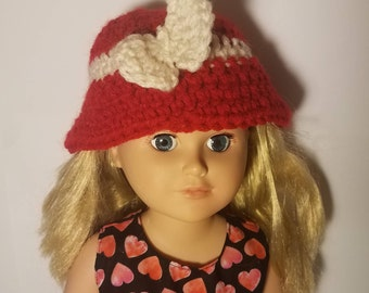 """Crochet hat for 18"""" and American Girl doll"""