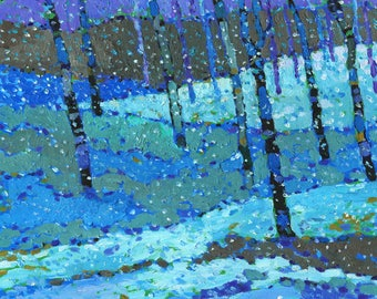 Snowy Woods #4 (Oil painting)