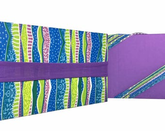 Reusable Gift Wrapping Value Pack - Wavy Stripes - Eco-Friendly, No Tape or Scissors Needed!